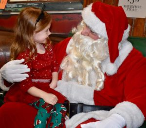 Santa with a happy child